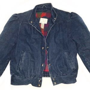 Vintage Denim Learsi Lined Puff Sleeve Jacket/Coat